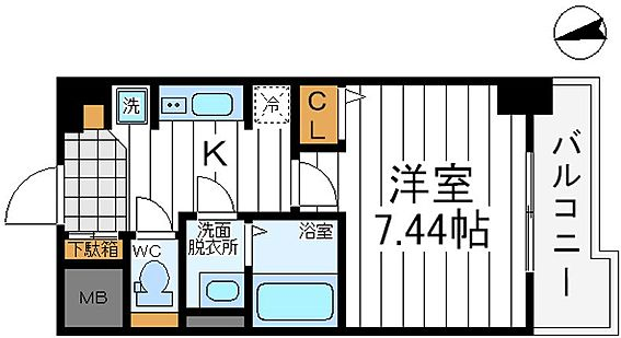 マンション(建物一部)-大阪市東住吉区桑津1丁目 間取り