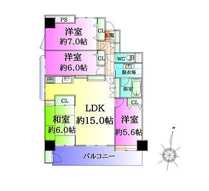 中古マンション-仙台市泉区八乙女4丁目 間取り