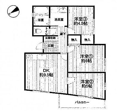 中古マンション-川崎市麻生区片平4丁目 間取り