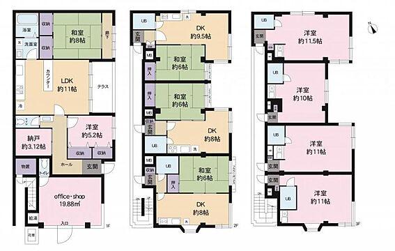 マンション(建物全部)-さいたま市南区根岸3丁目 〈1F〉店舗+2SLDK合計2戸/〈2F〉1DK合計3戸/〈3F〉1R合計4戸 総戸数9戸