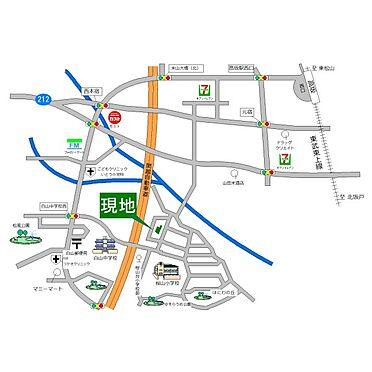 中古一戸建て-東松山市桜山台 地図