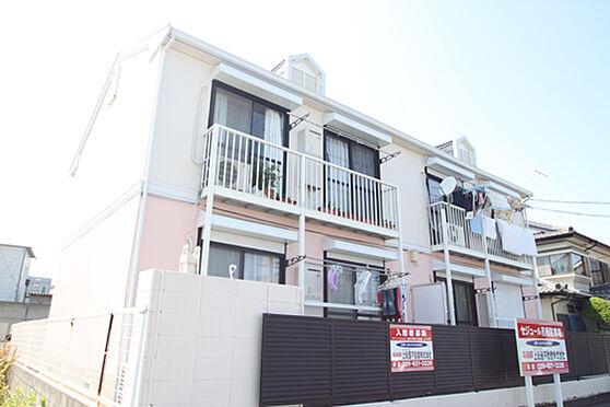 アパート-土浦市湖北1丁目 ピンクの綺麗な外壁。