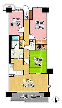 中古マンション-神戸市垂水区松風台2丁目 間取り