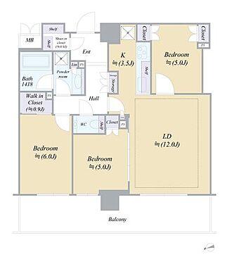 区分マンション-宇都宮市馬場通り3丁目 ■ 間取り図 ■※現況と間取り図が異なる場合は、現況優先とします※写真は空室時のものです