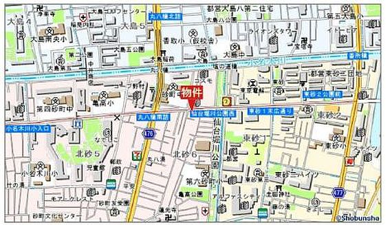 収益ビル-江東区北砂6丁目 地図