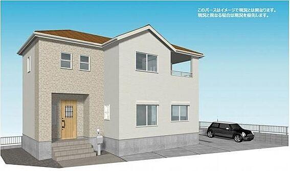 新築一戸建て-名古屋市中川区万場3丁目 角地で陽当り良好!2021年6月完成予定、新築戸建物件☆