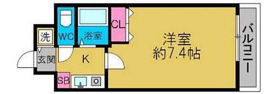 区分マンション-大阪市西区南堀江2丁目 間取り