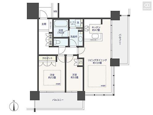 マンション(建物一部)-横浜市西区みなとみらい4丁目 間取り