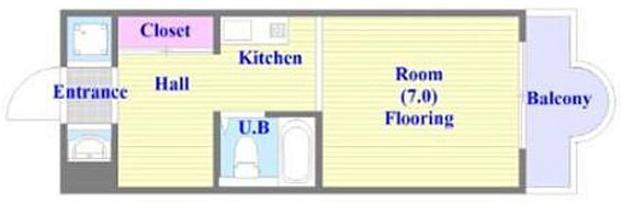 マンション(建物一部)-神戸市須磨区白川台5丁目 単身者向けのシンプルな間取り