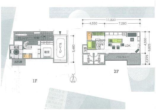土地-枚方市招提大谷3丁目 推奨プラン1「建物価格2000万円:施工面積120平方米」