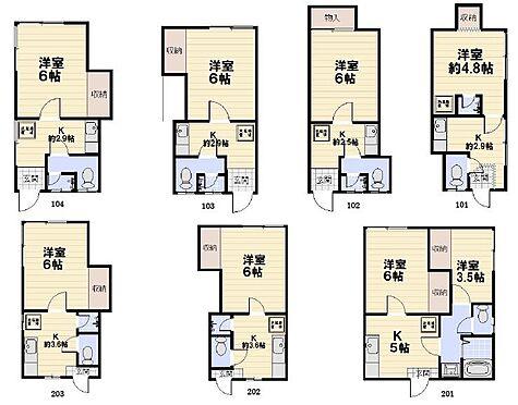 アパート-横須賀市富士見町2丁目 1K×6世帯、2K×1世帯の全7世帯のアパート