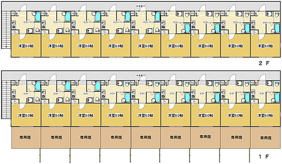 アパート-町田市原町田2丁目 1K6帖ロフト付。1階に専用庭有。