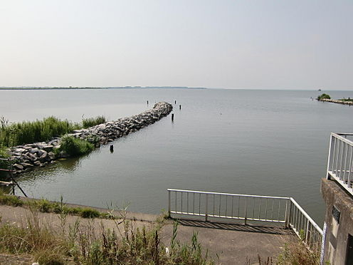 土地-稲敷市大島 前面湖畔