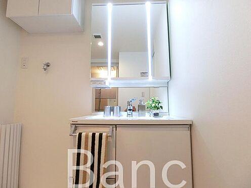 中古マンション-杉並区桃井2丁目 三面鏡の使いやすい洗面化粧台