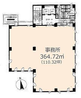 事務所(建物一部)-新宿区山吹町 間取図