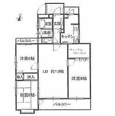 中古マンション-名古屋市天白区八事山 間取図