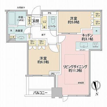 中古マンション-江東区豊洲3丁目 62.22m2の2LDK