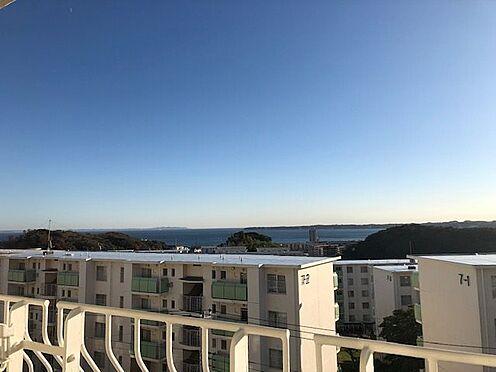 中古マンション-横須賀市グリーンハイツ バルコニーから南東向きの眺望 海が見えます