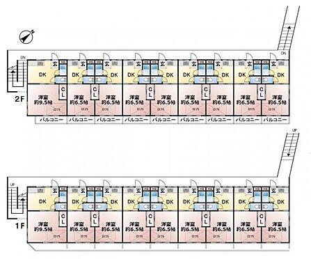 アパート-福岡市東区香椎駅東3丁目 建物面積382.58? 土地面積559.90? 1DK(ロフト付)×18戸 2階建