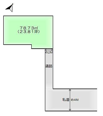 土地-仙台市太白区門前町 区画図