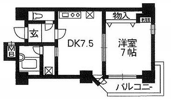 マンション(建物一部)-京都市中京区西ノ京南原町 間取り