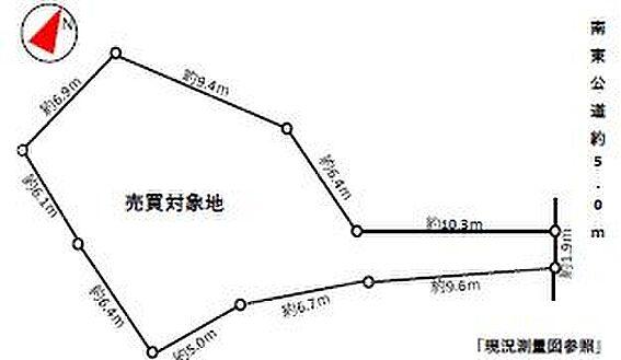 土地-豊田市荒井町寿田 区画図は確定前測量図を参照したものです。のちに面積・辺長に増減の可能性があります。