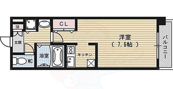 マンション(建物一部)-京都市中京区西大黒町 間取り