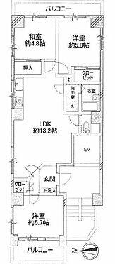 中古マンション-足立区竹の塚4丁目 間取り