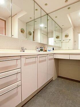 中古マンション-横浜市神奈川区栄町 L字型になっています、洗面スペースと化粧スペースで独立感があります