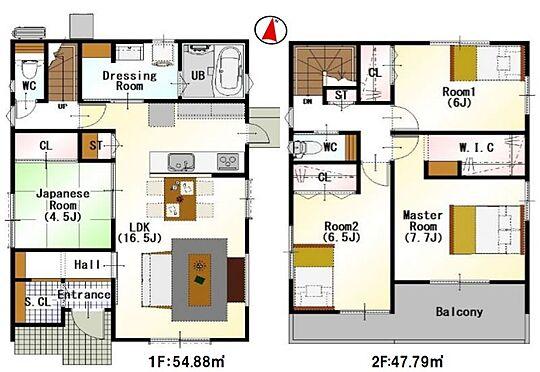 新築一戸建て-豊田市永覚新町1丁目 間取りは生活のしやすさを重視。家族みんなが気持ちよく過ごすための構造と使いやすい間取りを実現。