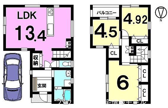 戸建賃貸-高市郡明日香村大字岡 ご家族が顔を合わせやすいリビング階段のあるおうち。全室に収納スペースを確保しました。駐車は1台可能です。