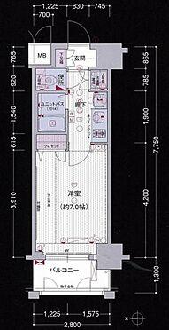 区分マンション-大阪市中央区東心斎橋1丁目 間取り