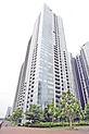 品川駅徒歩13分の立地。地上42階建、制震構造のマンションです。清水建設施工。