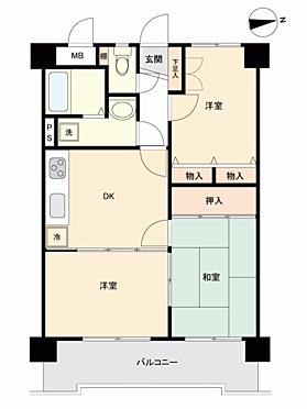 マンション(建物一部)-福岡市南区野多目2丁目 間取り