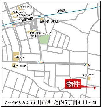 アパート-市川市堀之内5丁目 地図