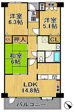 中古マンション-神戸市西区大津和2丁目 間取り
