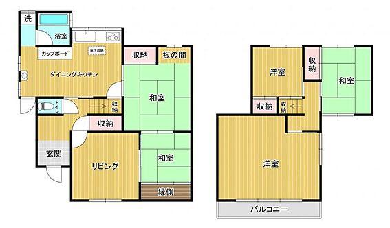 中古一戸建て-知多市日長字穴田 間取り図