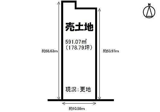 土地-大和高田市大字市場 区画図