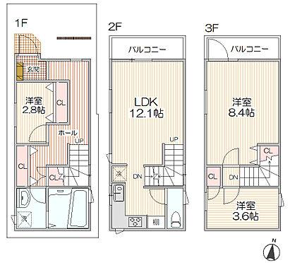 アパート-大田区本羽田2丁目 各階平面図