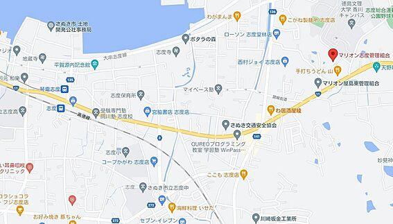 区分マンション-さぬき市志度 地図