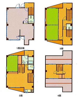 住宅付店舗(建物全部)-千葉市中央区登戸1丁目 間取り