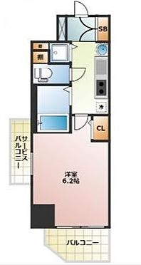 マンション(建物一部)-大阪市中央区島之内1丁目 サービスバルコニー有り