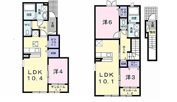 アパート-新発田市中曽根町3丁目 間取り