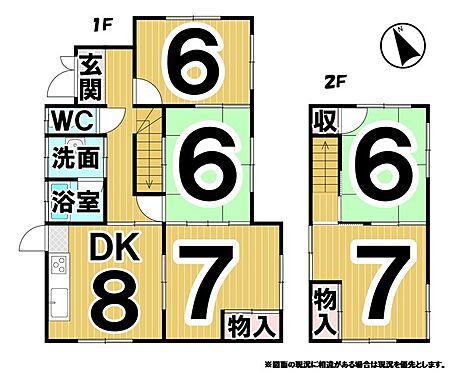 建物全部その他-岡山市中区湊 ※西側借家の間取です