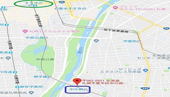 マンション(建物一部)-札幌市豊平区中の島一条1丁目 地図