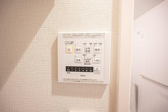中古マンション-渋谷区代々木2丁目 操作パネル/雨の日にも洗濯物を乾かせる便利な浴室乾燥機