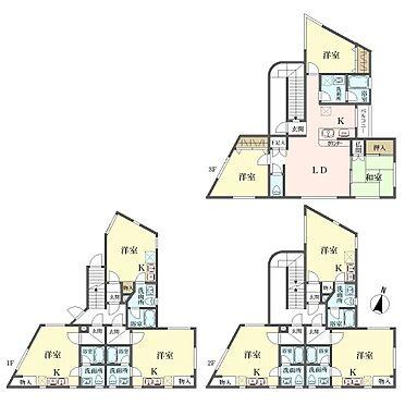 マンション(建物全部)-国立市西2丁目 間取図