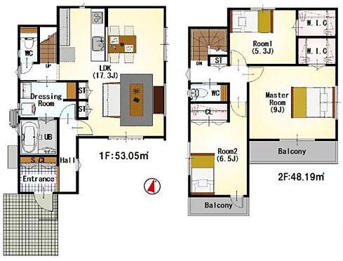 新築一戸建て-福岡市城南区樋井川4丁目 間取りは生活のしやすさを重視。家族みんなが気持ちよく過ごすための構造と使いやすい間取りを実現。