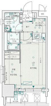 区分マンション-福岡市中央区荒戸1丁目 間取り