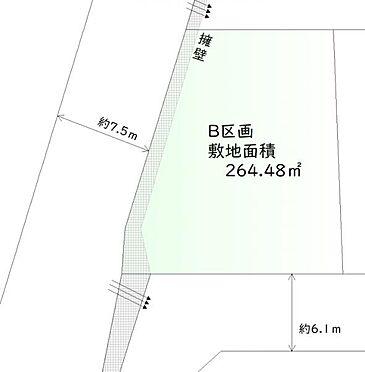 土地-仙台市青葉区貝ケ森4丁目 区画図